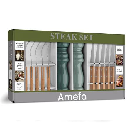 Naturals 14 piece Steak/BBQ set